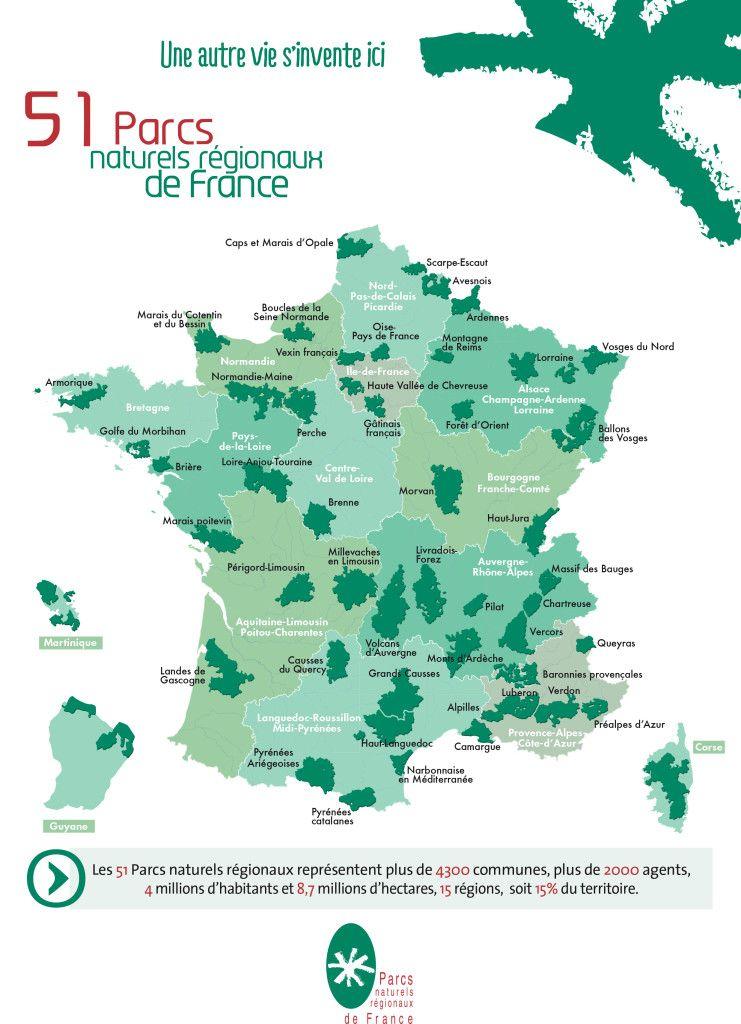 Carte des 51 PNR